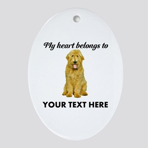 Personalized Goldendoodle Ornament (Oval)